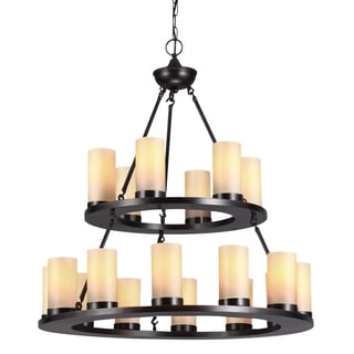 Ellington 18-light Burnt Sienna Round Chandelier