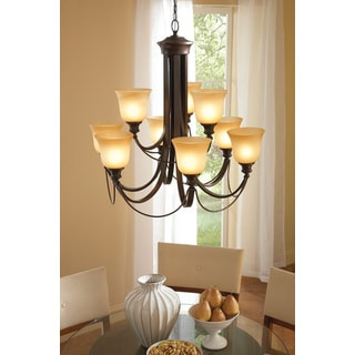 Park West 9-light Burnt Sienna Chandelier
