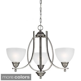 Vitelli 3-light Satin Etched Glass Chandelier