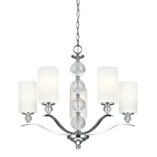 Englehorn 5-light Chrome and Crystal Chandelier