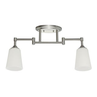 Track 2-light Brushed Nickel Lighting Kit