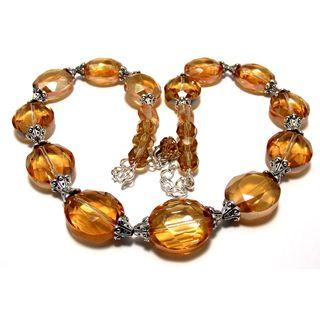 Golden Crystal 4-piece Wedding Jewelry Set