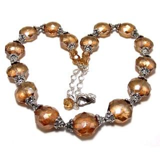 Golden Auroa Borealis Crystal 4-piece Weding Jewelry Set