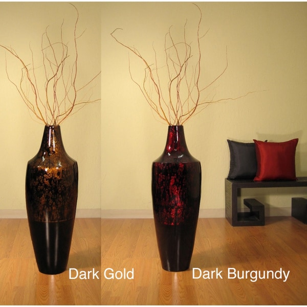 Tall Lacquer 36-inch Pod Vase and Branches