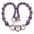 Pearlized Lavender and Clear Crystal 4-piece Wedding Jewelry Set