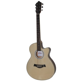 ADM Premium Cutaway Extremely Thin Body Electric Acoustic Guitar