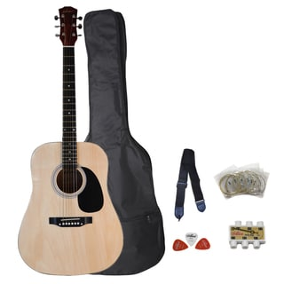 ADM Steel Strings Electric Acoustic Dreadnought Guitar Package