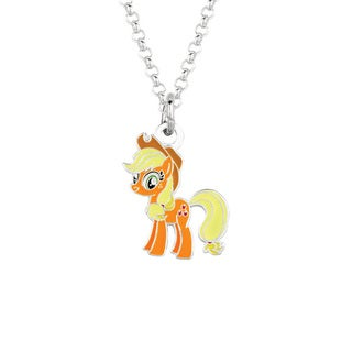 Fine Silver Plated Apple Jack My Little Pony Pendant Necklace