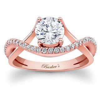 Barkev's Designer 14k Rose Gold Round 1ct TDW Diamond Engagement Ring (F-G, SI1-SI2)