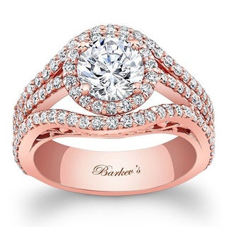 Barkev's Designer 14k Rose Gold 2 1/10ct TDW Diamond Engagement Ring (H-I, SI1-SI2)