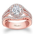Barkev's Designer 14k Rose Gold 2 1/10ct TDW Diamond Engagement Ring (F-G, SI1-SI2)