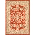 "Lotus Garden Copper Area Rug (4' x 5'7"")"