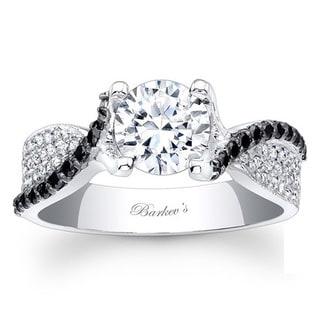 Barkev's Designer 14k White Gold 1 1/8ct TDW Black/ White Diamond Ring (G-H, SI1-SI2)