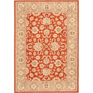 Lotus Garden Copper Area Rug (5'4 x 7'7)