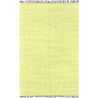 Braided Sienna Green Cotton Rug (5' x 8')