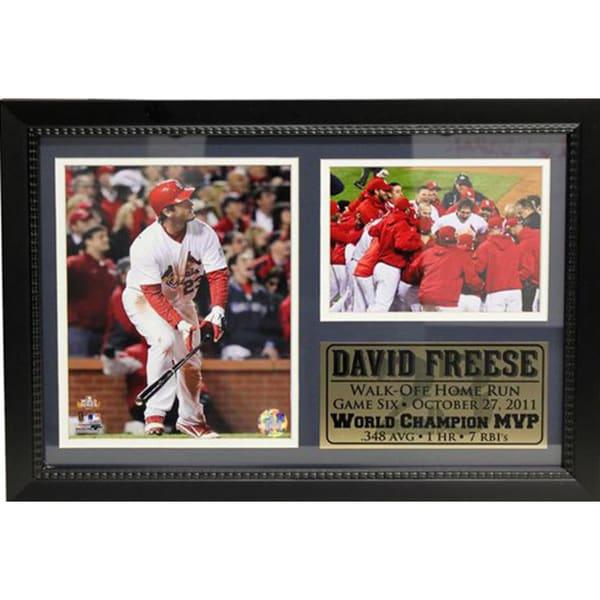 MLB 2011 World Series MVP David Freese Photo Stat Frame 12721816