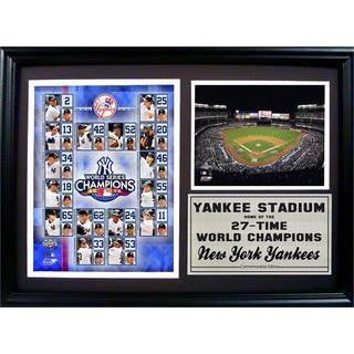 MLB 2009 New York Yankees World Series Champions Photo Stat Frame