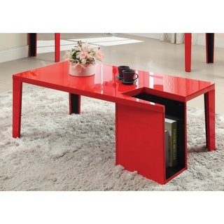 Furniture of America Ziyon Duotone Magazine Rack Coffee Table