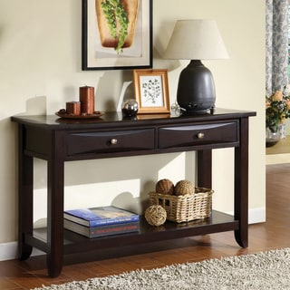 Furniture of America Buldgewin Espresso Two-drawer Sofa Table