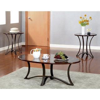 Furniture of America Beverly Flare 3-piece Coffee Table Set