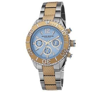 Akribos XXIV Women's Minute-Track Multifunction Stainless Steel Bracelet Watch