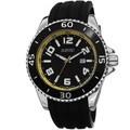 August Steiner Men's Swiss Quartz Multifunction Silicone Strap Watch