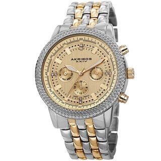 Akribos XXIV Women's Swiss Quartz Multifunction Stainless Steel Two-Tone Bracelet Watch