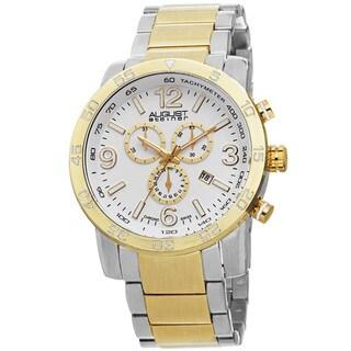 August Steiner Men's Swiss Quartz Chronograph Tachymeter Bracelet Watch