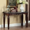 Furniture of America Branton Traditional Espresso Faux Marble Sofa Table