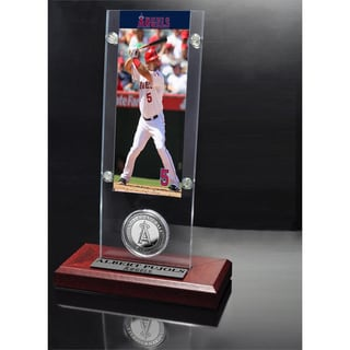 Albert Pujols Ticket And Minted Coin Desk Top Acrylic