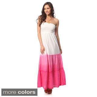 Hadari Women's Ombre Strapless Maxi Dress