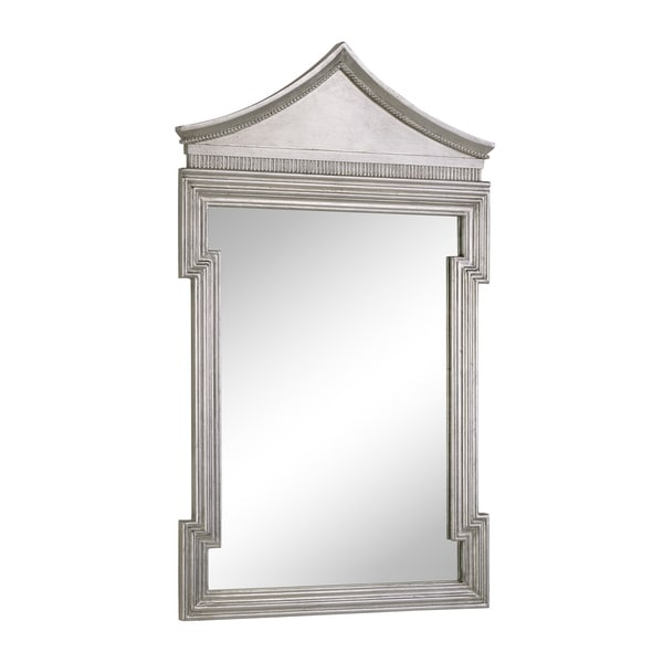 Somette Antique Thick Silver Framed Wall Mirror