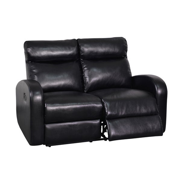 Black Soft Bonded Leather Reclining Loveseat 16147884 Overstock Shopping Great Deals On