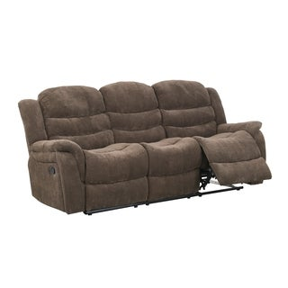 Vegas Raisin Fabric Reclining Sofa