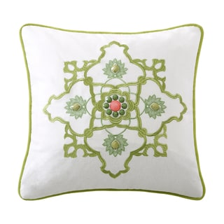 Echo Gramercy Paisley Cotton Square Throw Pillow