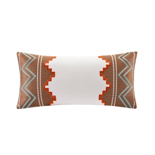Echo Beacon's Paisley Cotton Oblong Throw Pillow