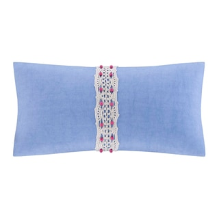 Echo Laila Cotton Oblong Throw Pillow with Beading