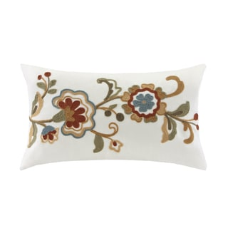 Harbor House Madeline Cotton Embordered Oblong Throw Pillow