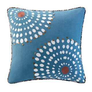 Echo Design Tribal Blocks Cotton Square Throw Pillow with beading