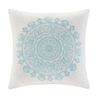 Echo Paros Cotton Embroidered Square Throw Pillow