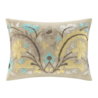 Echo Design Paros Cotton Embroidered Oblong Throw Pillow