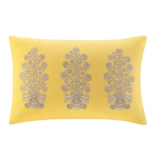 Echo Design Paros Cotton Oblong Embroidered Throw Pillow