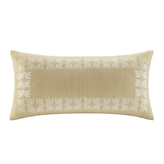 Echo Paros Cotton Oblong Embroidered Throw Pillow