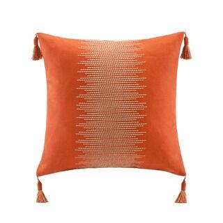 Echo Beacon's Paisley Cotton Square Throw Pillow