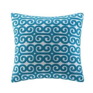 Echo Rio Cotton Square Embroidered Throw Pillow