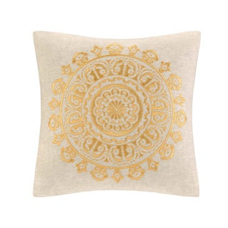 Echo Laila Linen Cotton Square Throw Pillow