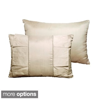 Crystal Taupe Reversible Decorative Throw Pillow