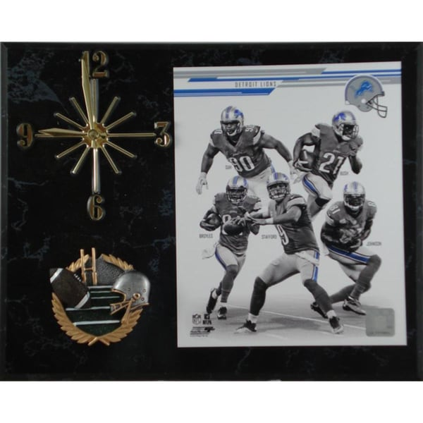 NFL 2013 Detroit Lions Team Photo Clock