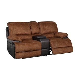 Trailblazer Pecan Reclining Console Loveseat