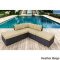 Andover 5-piece Sunbrella Fabric Corner Sectional Set